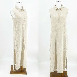Vintage 90s The Limited 100% Linen Maxi Dress